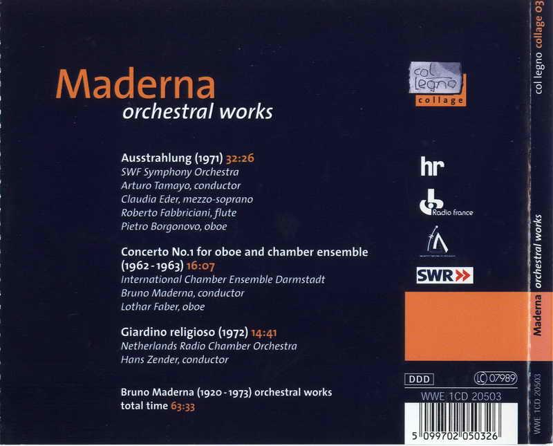 Bruno Maderna - Orchestral works