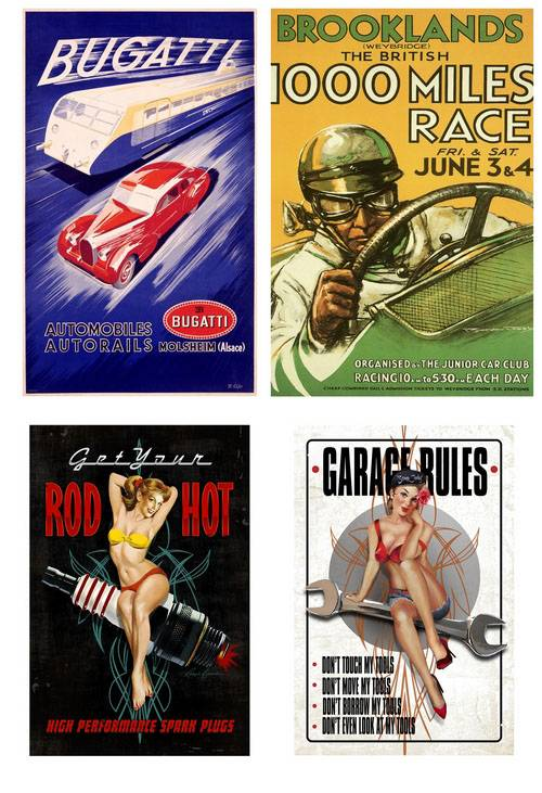 Vintage Car Posters and Racing Posters 1
