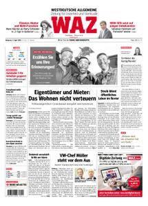 WAZ Westdeutsche Allgemeine Zeitung Oberhausen-Sterkrade - 11. April 2018