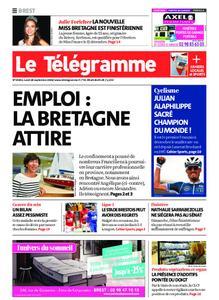 Le Télégramme Brest – 28 septembre 2020