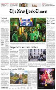 International New York Times - 21 November 2017