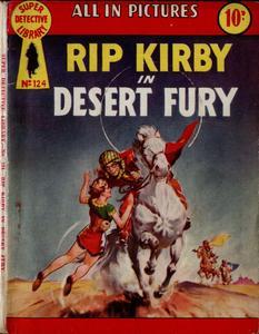 Super-Detective Library 124-Rip Kirby in Desert Fury Bogof39