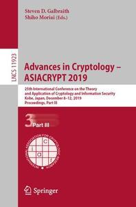 Advances in Cryptology – ASIACRYPT 2019