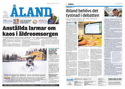 Ålandstidningen – 22 januari 2019