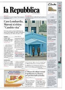 la Repubblica - 8 Gennaio 2018