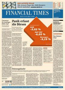 Financial Times Deutschland vom 09 August 2011