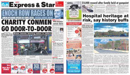 Express and Star City Edition – April 20, 2018