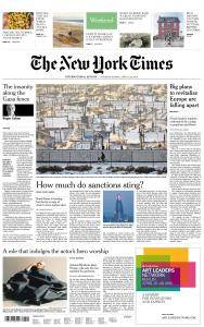 International New York Times - 21-22 April 2018