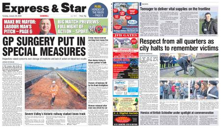 Express and Star Sandwell Edition – January 28, 2020
