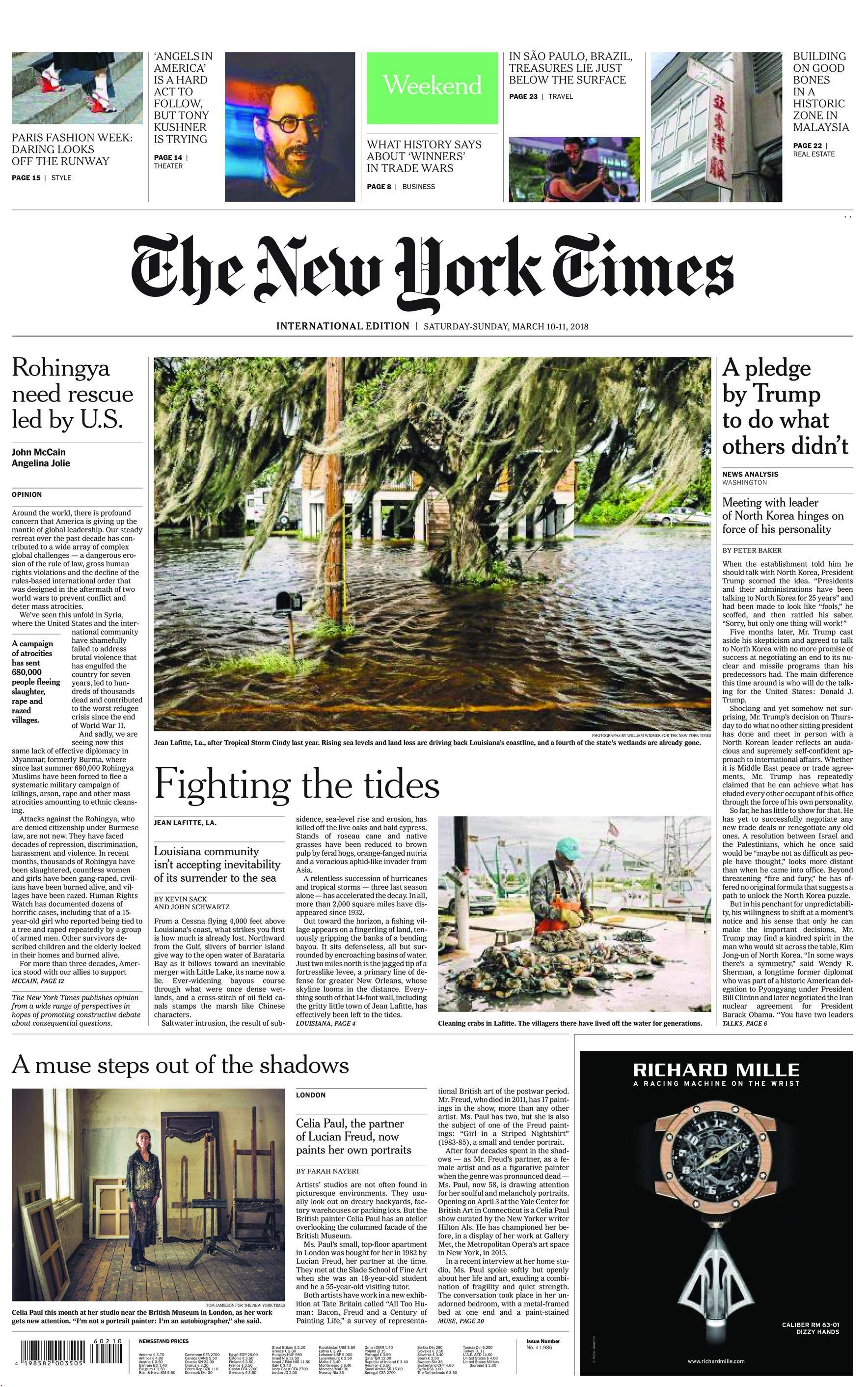 International New York Times - 10 March 2018