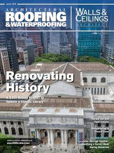 Architectural Roofing & Waterproofing-Walls & Ceilings Architect - Winter 2016
