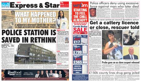 Express and Star City Edition – November 20, 2018