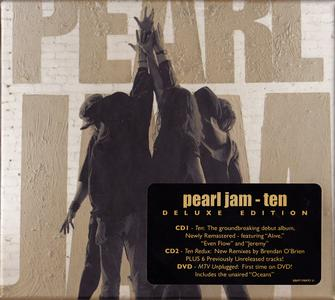 Pearl Jam - Ten (1991) 2CD + DVD5 (MTV Unplugged), Redux Deluxe Edition 2009