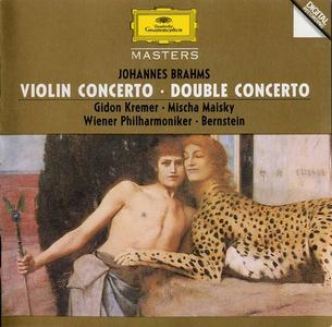 Gidon Kremer, Mischa Maisky, Wiener Philharmoniker, Leonard Bernstein - Brahms: Violin Concerto, Double Concerto (1983)