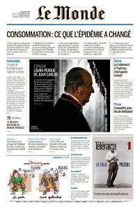Le Monde du Jeudi 28 Mai 2020