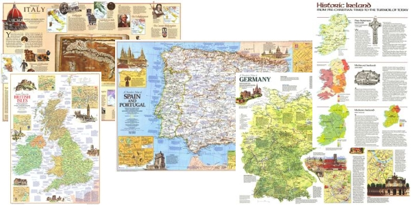 National Geographic Maps - Pack 5