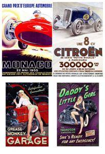 Vintage Car Posters and Racing Posters 2