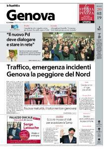 la Repubblica Genova - 20 Marzo 2019