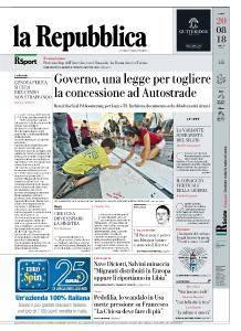 la Repubblica - 20 Agosto 2018