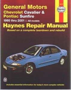 General Motors Chevrolet Cavalier, Pontiac Sunfire 1995 thru 2001, all models. Haynes Repair Manual.