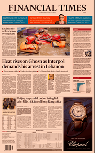 Financial Times Europe – 03 January 2020