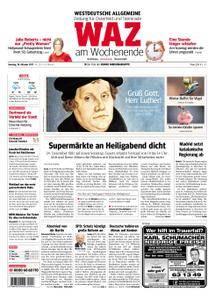 WAZ Westdeutsche Allgemeine Zeitung Oberhausen-Sterkrade - 28. Oktober 2017