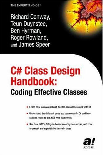 CSharp Class Design Handbook Coding Effective Classes