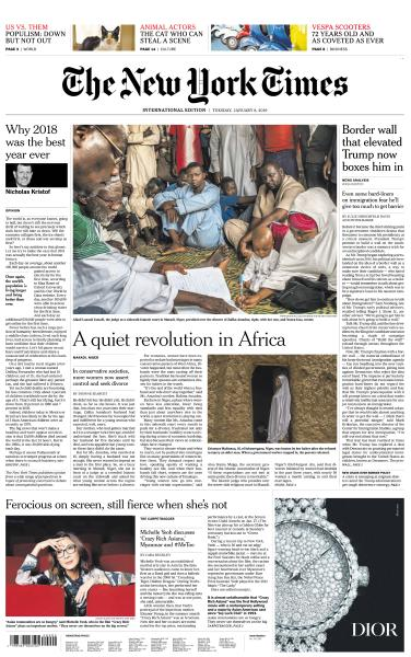 International New York Times - 8 January 2019