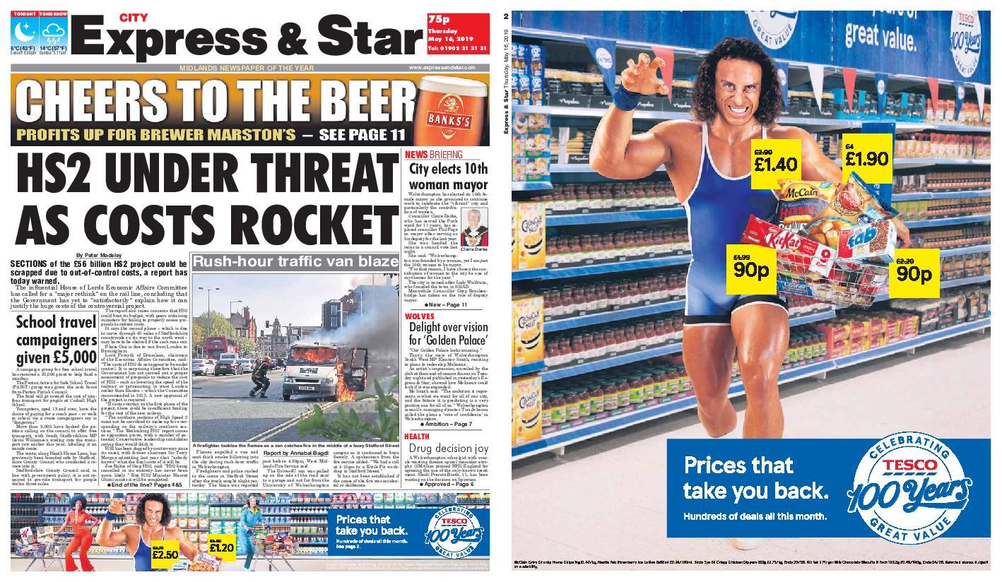 Express and Star City Edition – May 16, 2019
