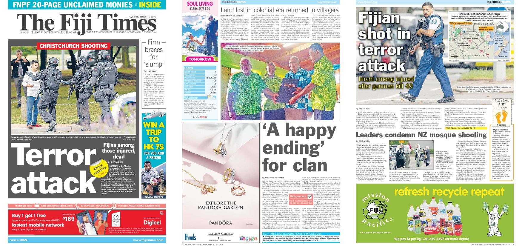 The Fiji Times – March 16, 2019