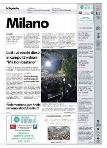 la Repubblica Milano - 29 Luglio 2018