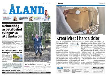 Ålandstidningen – 18 april 2020