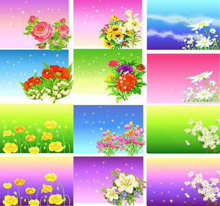 Stock vectors - Floral Backgrounds
