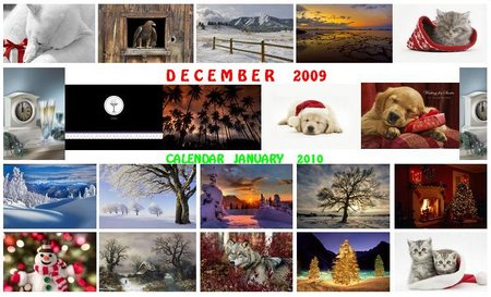 Webshots Premium Wallpapers December 2009  + Calendars January 2010