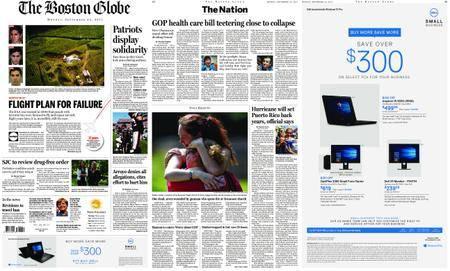 The Boston Globe – September 25, 2017