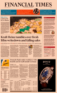 Financial Times Europe – 09 August 2019