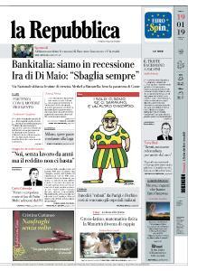 la Repubblica - 19 Gennaio 2019