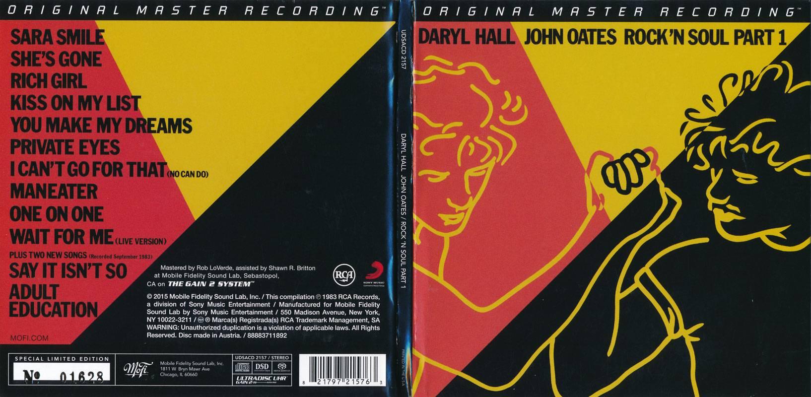 Daryl Hall & John Oates - Rock 'N Soul Part 1 (1983) [MFSL UDSACD 2157]