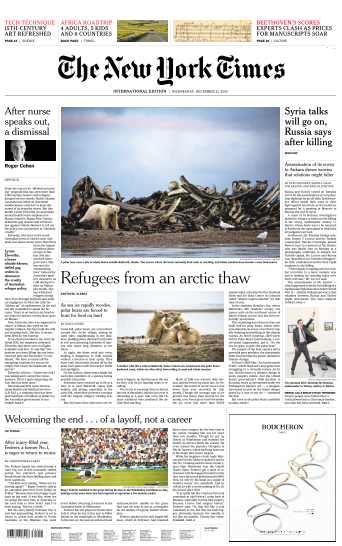 International New York Times - 21 December 2016