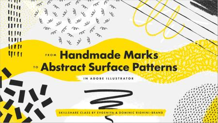 From Abstract Handmade Marks on Paper to Seamless Surface Patterns in Illustrator
