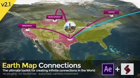 Earth Map Connections toolkit V2.1 (VideoHive) 20521238