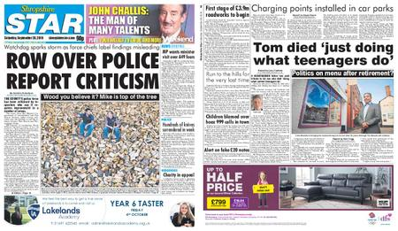 Shropshire Star Shrewsbury Edition – September 28, 2019