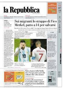 la Repubblica - 1 Luglio 2018