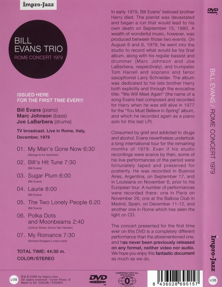 Bill Evans - Live '64-'75 (2006) + Rome Concert 1979 (2006