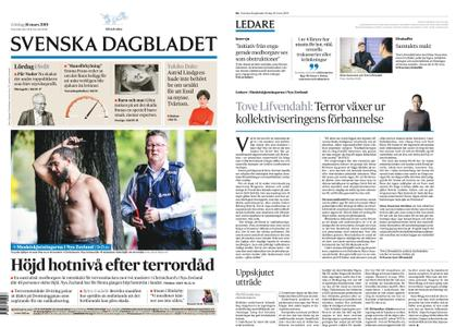 Svenska Dagbladet – 16 mars 2019