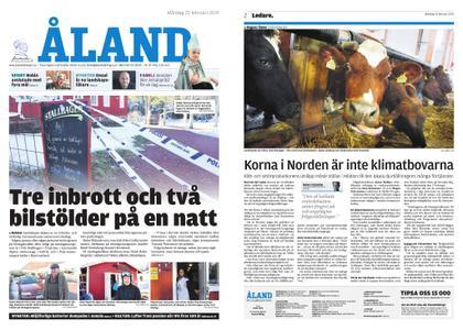 Ålandstidningen – 25 februari 2019