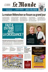 Le Monde du Vendredi 30 Novembre 2018