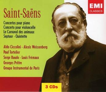 Aldo Ciccolini, Paul Tortelier, Ulf Hoelscher - Camille Saint-Saens: Concertos (5CD) (2004)