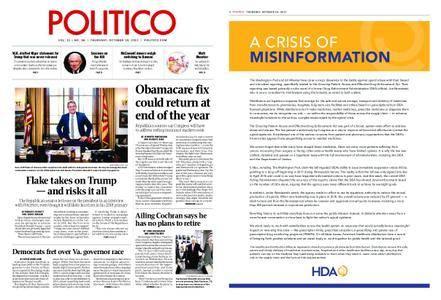 Politico – October 19, 2017