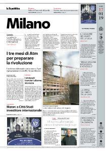 la Repubblica Milano - 17 Gennaio 2019